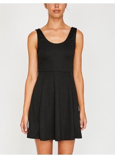 Koton Askılı Kloş Elbise Siyah